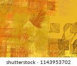 contemporary art. hand made art.... | Shutterstock . vector #1143953702