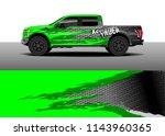 car decal wrap design  truck...   Shutterstock .eps vector #1143960365