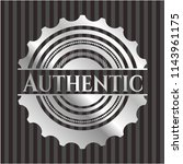authentic silver emblem | Shutterstock .eps vector #1143961175