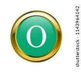 letter o capital letter classic ... | Shutterstock .eps vector #1143964142