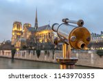 notre dame de paris france | Shutterstock . vector #1143970355
