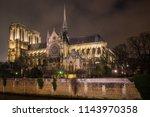 notre dame de paris france | Shutterstock . vector #1143970358