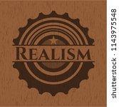 realism retro style wooden... | Shutterstock .eps vector #1143975548