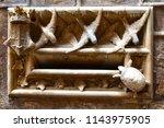 elaborate stonework around a... | Shutterstock . vector #1143975905