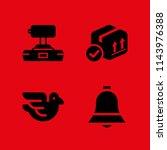 logo icon set with dove ...