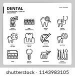 dental icon set | Shutterstock .eps vector #1143983105