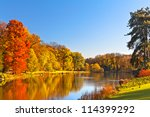Autumn Landscape. Park In...