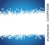 frosty winter background | Shutterstock .eps vector #1143993338