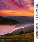 scenic summer sunset landscape  ... | Shutterstock . vector #1143996632