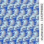 classical seamless pattern of... | Shutterstock . vector #1143998882