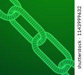 wireframe blockchain links.... | Shutterstock . vector #1143999632