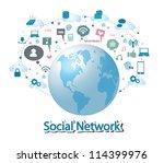 social network | Shutterstock .eps vector #114399976