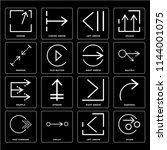set of 16 icons such as divide  ...