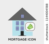 mortgage icon vector isolated... | Shutterstock .eps vector #1144004588