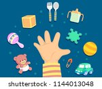 illustration of a kid toddler... | Shutterstock .eps vector #1144013048