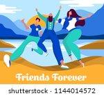 celebrating friendship day... | Shutterstock .eps vector #1144014572