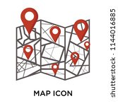 map icon vector isolated on... | Shutterstock .eps vector #1144016885
