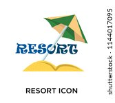resort icon vector isolated on...   Shutterstock .eps vector #1144017095
