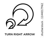 turn right arrow icon vector...   Shutterstock .eps vector #1144017962