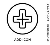 add sign icon vector isolated...   Shutterstock .eps vector #1144017965