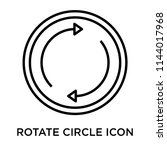 rotate circle icon vector... | Shutterstock .eps vector #1144017968