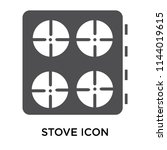 stove icon vector isolated on... | Shutterstock .eps vector #1144019615