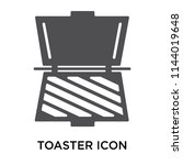 toaster icon vector isolated on ...   Shutterstock .eps vector #1144019648