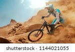 cyclist riding a bicycle.... | Shutterstock . vector #1144021055