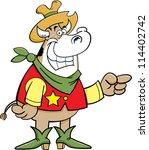 cartoon illustration of a cow... | Shutterstock .eps vector #114402742