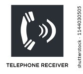 telephone receiver icon vector... | Shutterstock .eps vector #1144030505