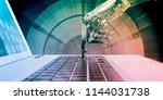 digital technology with... | Shutterstock . vector #1144031738