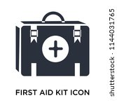 first aid kit icon vector...