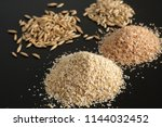 bran oatmeal with a large grind ... | Shutterstock . vector #1144032452