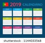 calendar 2019   portuguese... | Shutterstock .eps vector #1144033568