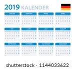 calendar 2019   german version  ... | Shutterstock .eps vector #1144033622