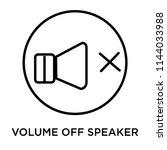 volume off speaker icon vector... | Shutterstock .eps vector #1144033988