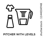 pitcher with levels icon vector ...
