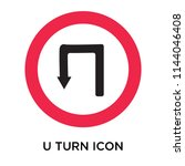 u turn icon vector isolated on... | Shutterstock .eps vector #1144046408