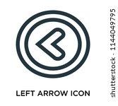 left arrow icon vector isolated ...