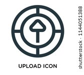 upload icon vector isolated on... | Shutterstock .eps vector #1144051388