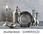 Vintage Silver Tableware On...