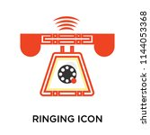 ringing icon vector isolated on ...   Shutterstock .eps vector #1144053368