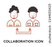 collaboration icon vector...   Shutterstock .eps vector #1144053425