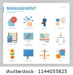 management icon set | Shutterstock .eps vector #1144055825