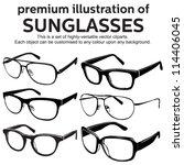 sunglasses vintage style clipart   Shutterstock .eps vector #114406045