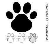 animal footprint icon vector | Shutterstock .eps vector #1144062968