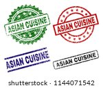 asian cuisine seal prints with...   Shutterstock .eps vector #1144071542