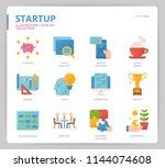 startup icon set | Shutterstock .eps vector #1144074608