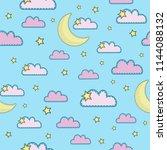 cartoon seamless pattern color...   Shutterstock .eps vector #1144088132