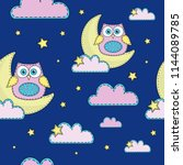 cartoon seamless pattern color...   Shutterstock .eps vector #1144089785